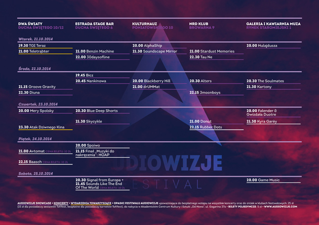 Download the programme of Audiowizje